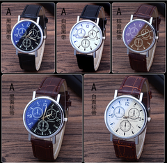 Hot Style Men's Man business watch man quartz watch man watch glass Luxury belt SO fashion D4 A