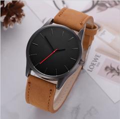 2019 NEW Luxury Brand Men Sport Watches Men's Quartz Clock Man Colck Military Leather Wrist Watch brown a