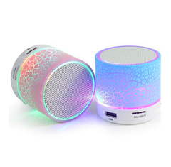 Bluetooth Speaker Mini LED TF USB Subwoofer bluetooth Speakers mp3 stereo audio music player pink a