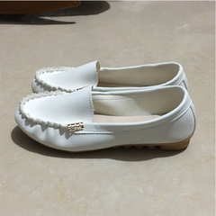 Women Flats shoes 2019 Loafers Candy Color Slip on Flat Shoes Ballet Flats Comfortable Ladies shoe white 35