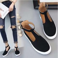 Women Fashion Casual Sport Flats Shoes Walking Non-slip black 35