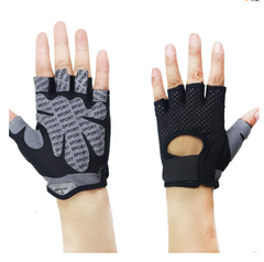 Professional gym gloves exercise hands protecting breathable sports gloves fitness weight-lifting black l