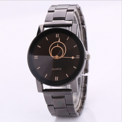 Best selling couple watch men / women steel belt watches lady a