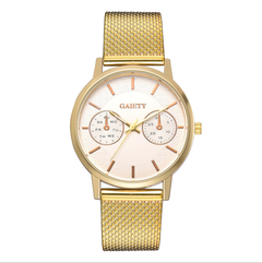 New two-eye five-pin new brand quartz watch business casual silicone wrist watches gold a