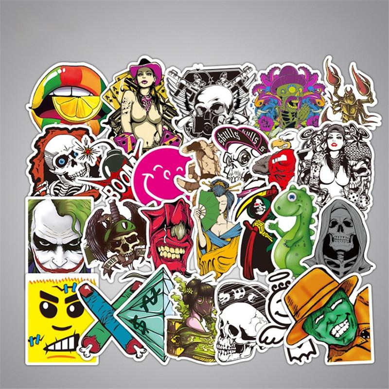 50PCS Style Graffiti Stickers DIY Luggage Laptop Skateboard Car Motorcycle Bicycle Stickers 50pcs/set 9