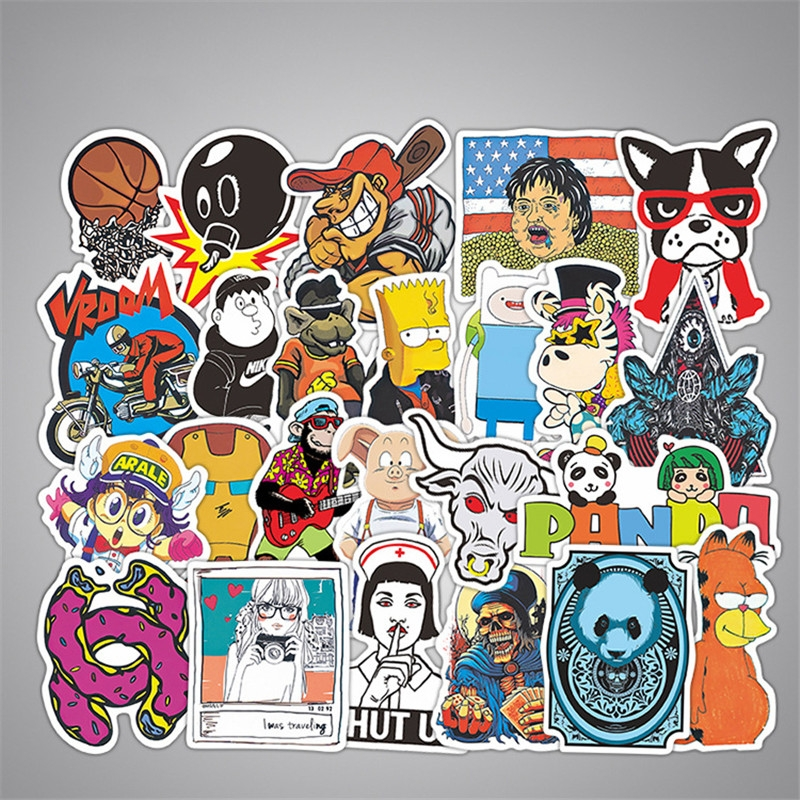 50PCS Style Graffiti Stickers DIY Luggage Laptop Skateboard Car Motorcycle Bicycle Stickers 50pcs/set 13
