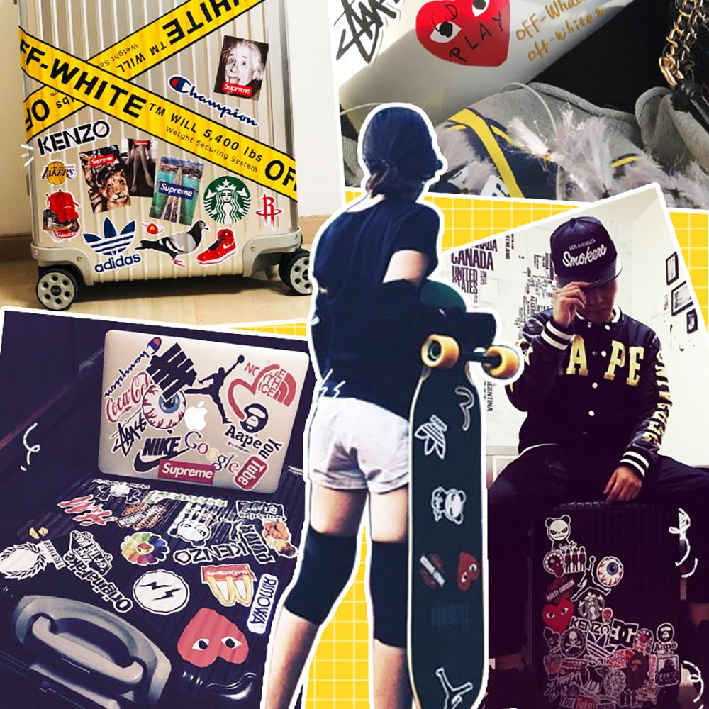 50PCS Style Graffiti Stickers DIY Luggage Laptop Skateboard Car Motorcycle Bicycle Stickers 50pcs/set 15