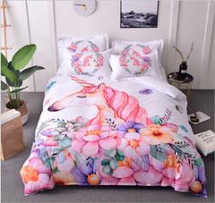 good quality good looking 3pcs bedding pillowcase bedding unicorn Duvet Cover set all size a1 260x230