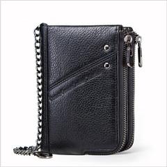 Top Quality leather long wallet men zipper wallets men money bag pocket mltifunction black a