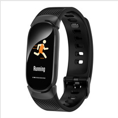 Smart Bracelet Bluetooth Step Counter Remote Control Simple Sports Smart Watch New black one
