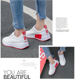 Women shoes sports casual shoes flying woven breathable sneakers women running shoes white 35