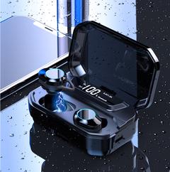 TWS 5.0 Bluetooth 9D Stereo Earphone IPX7 Waterproof Earphones 3300mAh LED Smart Power Bank Phone G02