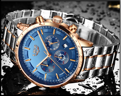 Watch Men LIGE Fashion Sport Quartz Clock Mens Watches Top Brand Luxury Business Waterproof Watch a1 a