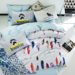 HOt good quality cotton Home textile 1pc quilts cover 1pc bed sheets 2pcs pillow a1 1.2m