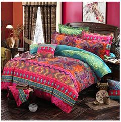 Bohemian comforter bedding sets  duvet cover set bedsheet Pillowcase  Bedlinen bedspread As shown 1.2m