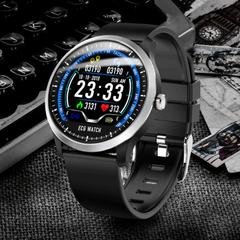 N58 2019 New ECG + PPG Smart Watch Men IP67 Waterproof Sport Watch Heart Rate Monitor Blood Pressure black one