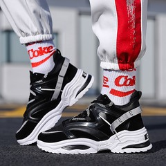 Casual Shoes Men Breathable Sneakers high quality adults New Trend Fashion Cheap Lace Up Color black 39