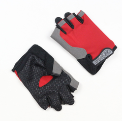 Half Finger  Gloves for Men Women Gym Fitness Weight Lifting Building Workout Running Exercise red m