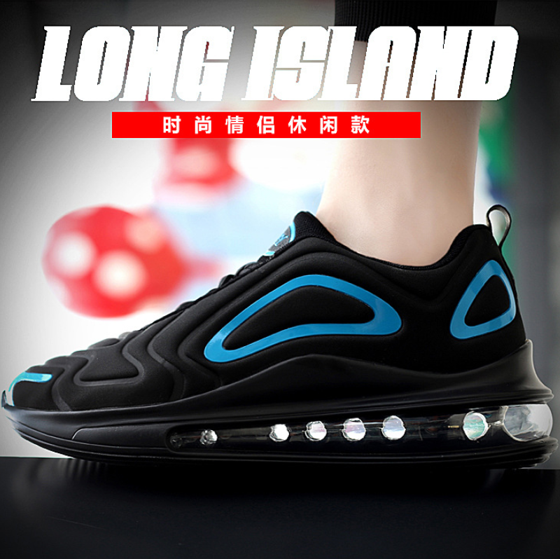2019 autumn breathable full palm cushion sports shoes one male and one female couple running shoes black blue 42 7