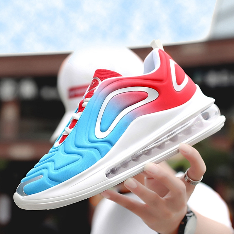 2019 autumn breathable full palm cushion sports shoes one male and one female couple running shoes black blue 42 10