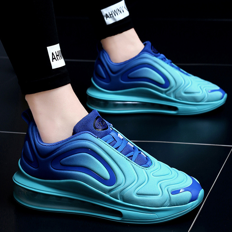 2019 autumn breathable full palm cushion sports shoes one male and one female couple running shoes black blue 42 18