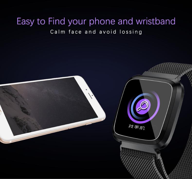 New L18 smart bracelet 1.3 color screen full metal heart rate blood pressure IP68 pedometer sleep silvery steel one 9