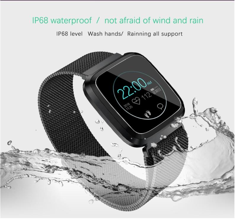 New L18 smart bracelet 1.3 color screen full metal heart rate blood pressure IP68 pedometer sleep silvery steel one 12