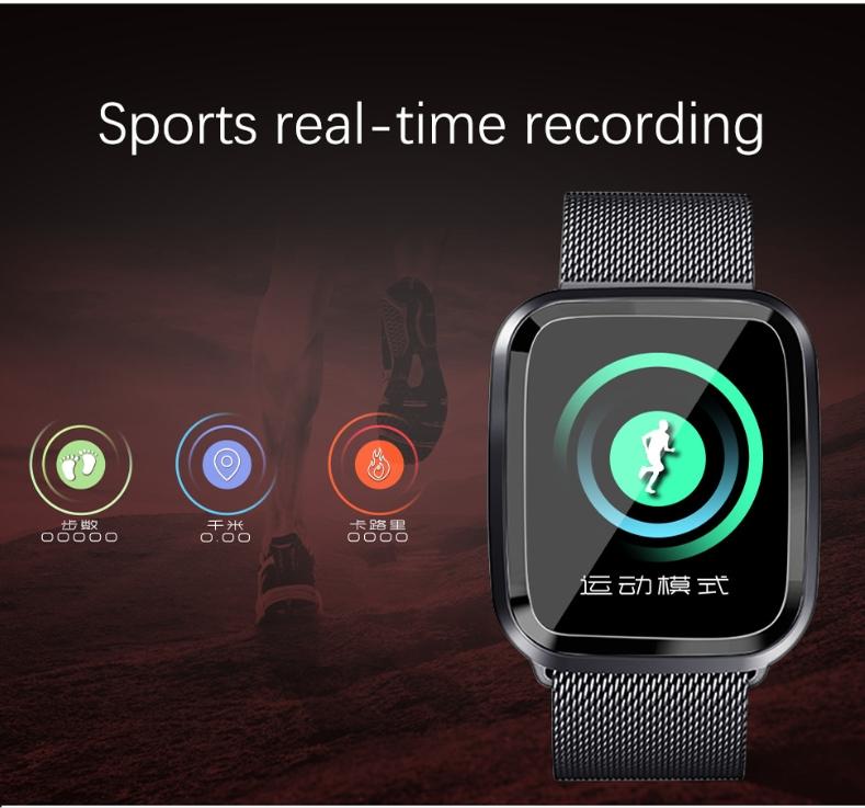 New L18 smart bracelet 1.3 color screen full metal heart rate blood pressure IP68 pedometer sleep silvery steel one 7