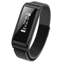 B29 smart bracelet heart rate sports bracelet steel watches brings electric reminder message push black one