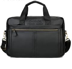 Top Sell Fashion Simple Business Men Briefcase Bag Leather Laptop Bag Casual Man Bag Shoulder bags black one