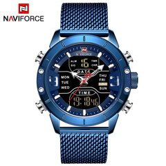 Men Watch Top Luxury Brand Man Military Sport Quartz Wrist Watches Stainless Steel LED Digital Clock a1 a