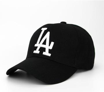 93cb7a2b6a Men Women LA letter Baseball Caps Dodgers Embroidery Black Hip Hop Bone Hats  black 2 one