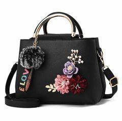 Flowers Shell Women's Tote Clutch Bag Small Ladies Handbags Lady Accessories New black regular