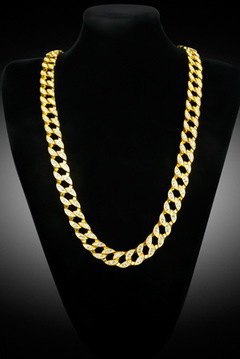 hiphop cuban link chain gold 2.5mm*50cm