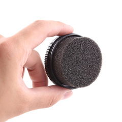 2estfashion Maintenance shoe polish sponge shoe polish shoe brush leather care oil sponge shoes care black one size