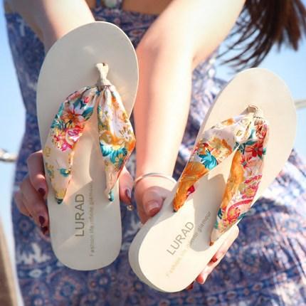 2estfashion Mimi lady slipper  summer non-slip thick bottom clip drag sandals in the heel white XL