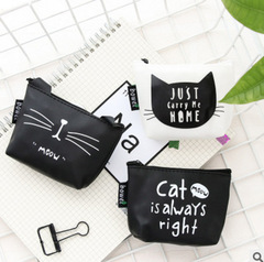 2estfashion New  small fresh girl wallet cat coin purse king cartoon coin purse black2 regular