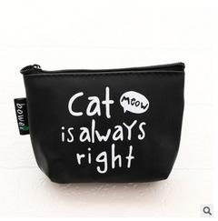 2estfashion New  small fresh girl wallet cat coin purse king cartoon coin purse black1 regular