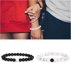 2estfashion Frosted Natural White Pine Bracelet black general