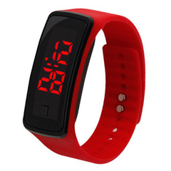 Korean version led touch watch sports electronic hand ring watch LED watch silica gel Watch red general