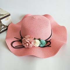 Hot sale discount new product promotion ladies hat summer outdoor beach sunhat pink
