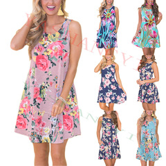 Best selling explosions new women's clothing summer printing new casual vest dress s #1