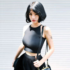 New hot sale women's tops camisole female sports yoga bottoming vest tube top wrapped chest black one size