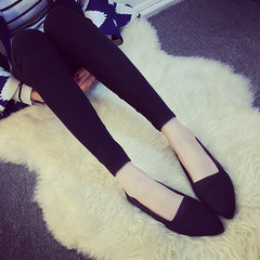 2019  new products hot sale promotion solid color flat shoes women's flat   comfortable office shoes black 39