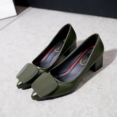 Hot new fashion women's shoes flat shoes high quality leather professional women's shoes green 40