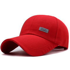 Hot sale promotion hat spring and summer men and women baseball cap red adjustable