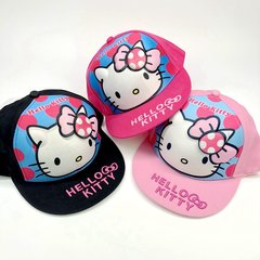Hot sale promotion children's hat baseball cap HELLOKITTY wave point girl hip hop hat red adjustable