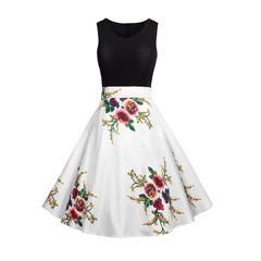 Hot sale promotion new woman's dress 2019 summer stitching print dress XXL #8