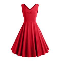 2019 summer promotion hot new women's dress retro print dress mini dress XXL #2