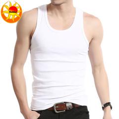 Promotion 3 or 5 Pack Men's Hot Sale Sports Elastic Vest, Men's Bodybuilding Vest, Men's  Wear Vest 3 Pc random colors XL cotton+Polyester,